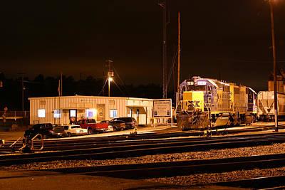 Photograph - Csx Yard At Night by Joseph C Hinson Photography