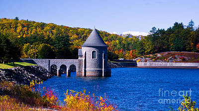 Photograph - Sayville Dam. Barkhamstead, Connecticut. by New England Photography