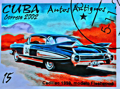 Epoca 1959 Photograph - Cuba Antique Auto 1959 Fleetwood by Judy Bernier