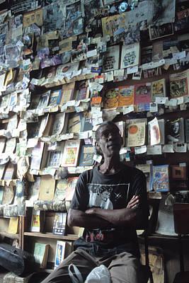 Cuba Book Store Art Print