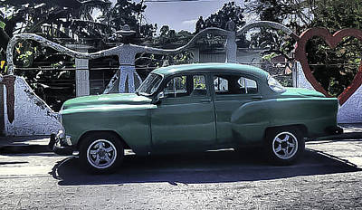 Photograph - Cuba Car 8 by Will Burlingham