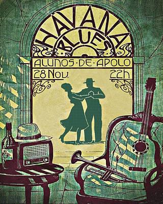 Cuba, Havana, Dancing Couple Art Print