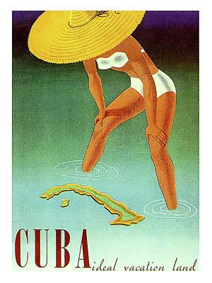 Cuba Isle, Travel Poster Art Print