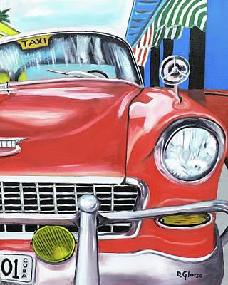 Painting - Cuba Taxi - 01 by Dean Glorso