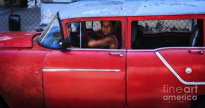 Photograph - Cuba Taxi Driver by Craig J Satterlee