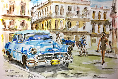 Painting - Cuba Today Or 1950 ? by Victor Minca