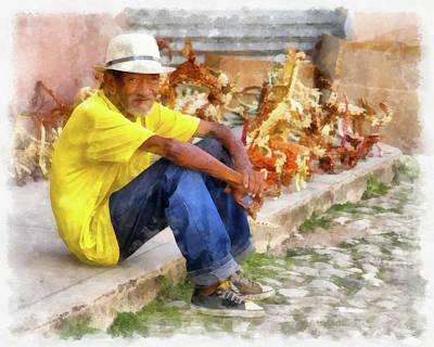 Photograph - Cuban Artist by Dawn Currie