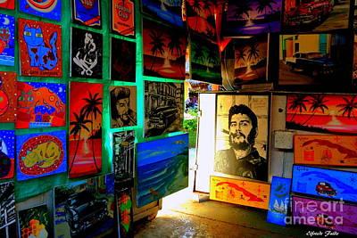 Photograph - Cuban Artshop by Elfriede Fulda