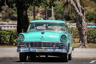 Photograph - Cuban Car by David Warrington