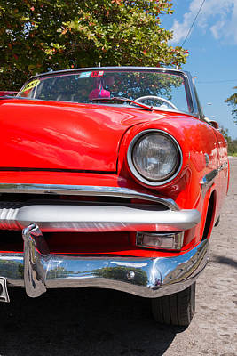 Photograph - Cuban Classic Car by David Warrington