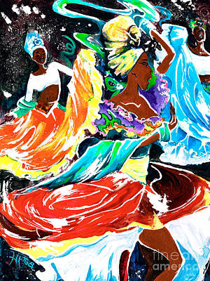 Cuban Music Painting - Cuban Dancers - Magical Rhythms... by Elisabeta Hermann