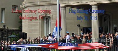 Farmhouse Royalty Free Images - Cuban Embassy Opening Royalty-Free Image by Jost Houk