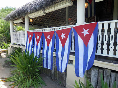 Photograph - Cuban Flags by Pema Hou