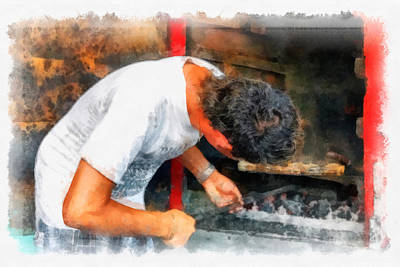 Photograph - Cuban Grill Chef by Dawn Currie