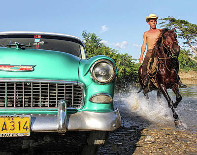 Photograph - Cuban Horsepower by Marla Craven