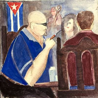 Painting - Cuban Lunch by Lynne Bolwell