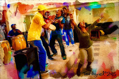 Painting - Cuban Music by Ted Azriel