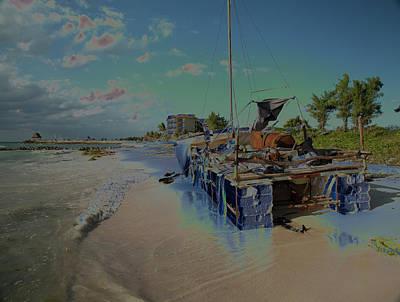 Photograph - Cuban Refugee Raft 2 by Susan Garrett
