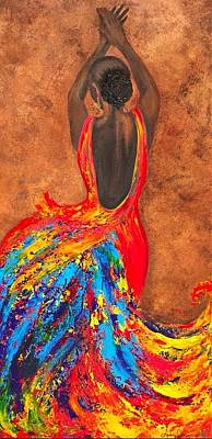 Metallics Painting - Cuban Sass by Audrey Sullivan
