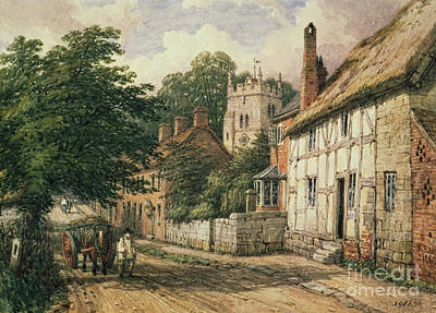 Village Scene Painting - Cubbington In Warwickshire by Thomas Baker