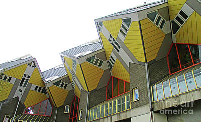 Photograph - Cube Houses 26 by Randall Weidner