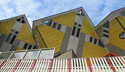 Photograph - Cube Houses 30 by Randall Weidner