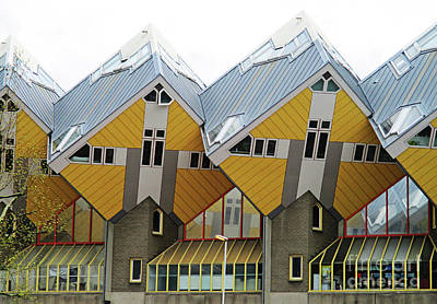 Photograph - Cube Houses 7 by Randall Weidner
