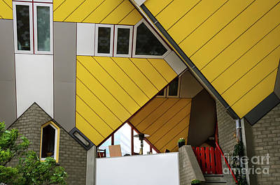 Cube Houses Detail In Rotterdam Art Print by RicardMN Photography