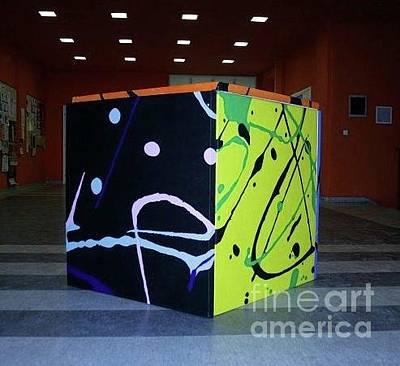 Nikolina Painting - Cube by Nikolina Peric