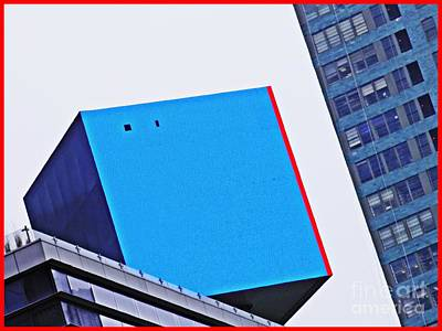 Photograph - Cube On 42nd Street Blue by Sarah Loft