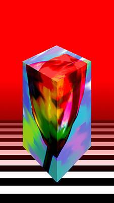 Digital Art - Cubed Tulip by Marie Jamieson