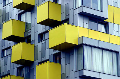 Cubed Yellow Art Print by Jez C Self