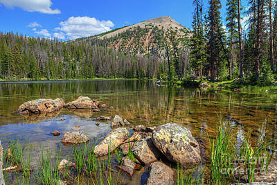 Photograph - Cuberant Pond And Mount Marsell by Spencer Baugh