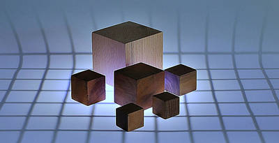 Line Drawing Quibe - Cubes by Mark Fuller