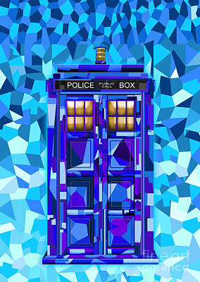 Fandom Digital Art - Cubic Art Phone Booth by Three Second