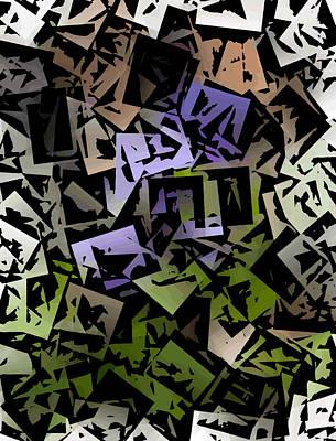 Digital Art - Cubic Violet by David Lane