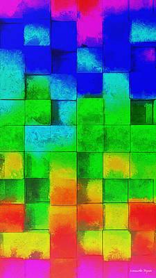 Glow Painting - Cubism 2 - Pa by Leonardo Digenio