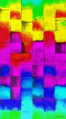 Tiled Digital Art - Cubism 3 - Da by Leonardo Digenio