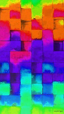 Grid Digital Art - Cubism 5 - Da by Leonardo Digenio