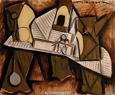Painting - Cubism Ewok Village by Tommervik