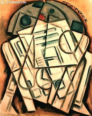 Painting - Cubism R2-d2 Painting by Tommervik