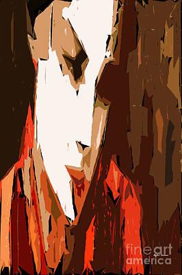 Tribute To Women Digital Art - Cubism Series V by Rafael Salazar