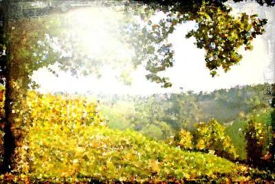 Grape Leaf Digital Art - Cubist Hills by Andrea Barbieri