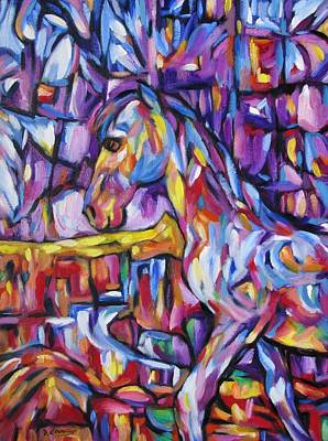 Painting - Cubist Horse At Rainbow Canyon by Dianne  Connolly