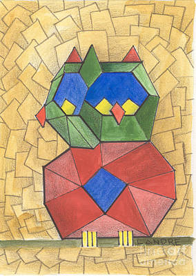 Painting - Cubist Owl by Lilibeth Andre