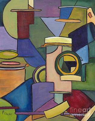 Painting - Cubist Pill Bottle by Patricia Cleasby