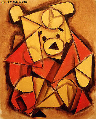 Painting - Cubist Pooh Bear Painting by Tommervik