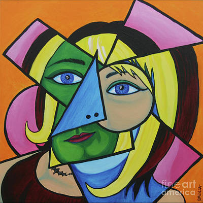 Painting - Cubist Self Portriat by Brenda Kato