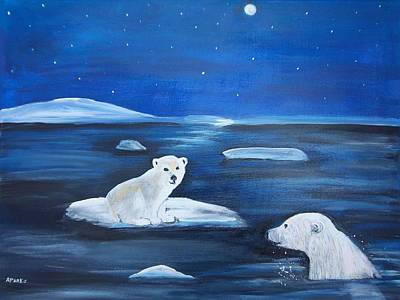 Painting - Cubs Free Ride by Aleta Parks