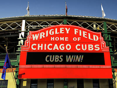 Billboard Photograph - Cubs Win by Andrew Soundarajan